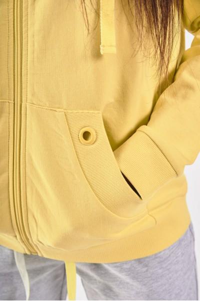 Szara bluza dresowa z kapturem