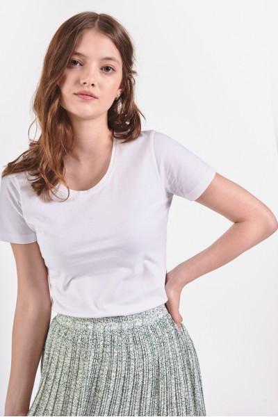 Biała koszulka z krótkim rękawem
