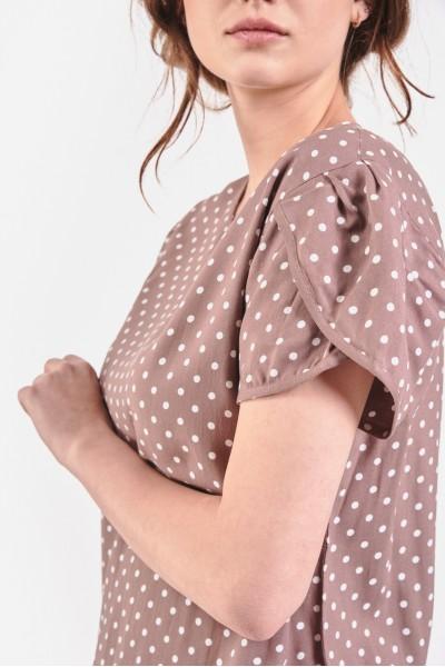 Dziewczęca bluzka w groszki