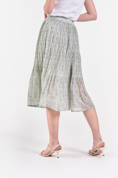 Plisowana spódnica midi z podszewką