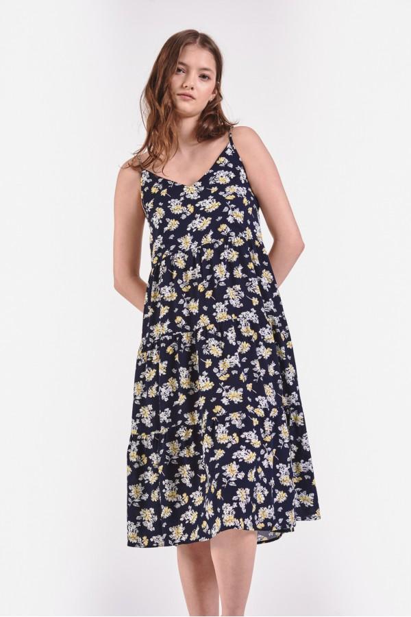 Kwiecista sukienka na ramiączkach