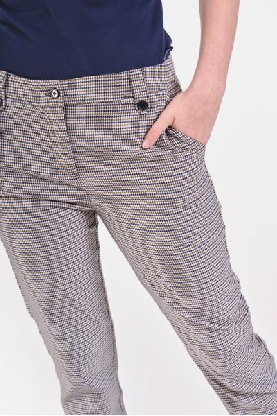 Materiałowe spodnie cygaretki