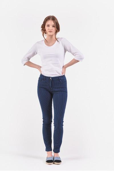 Długie spodnie w poziome paski