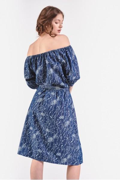 Sukienka hiszpanka z wiązaniem w pasie