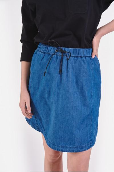 Bawełniana spódnica w okrągłym dołem