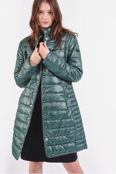 Pikowany płaszcz z...