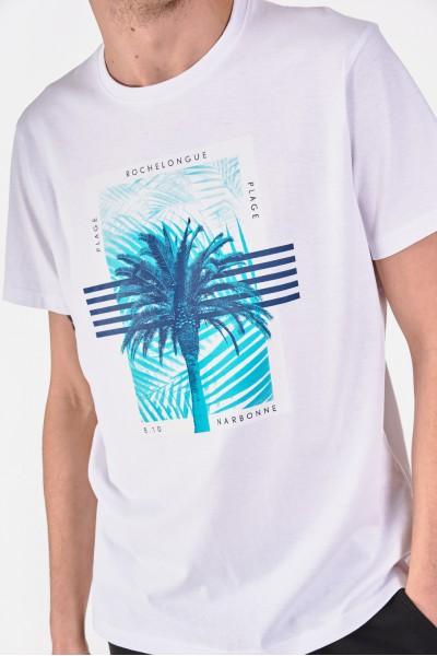 Bawełniana koszulka z palmą