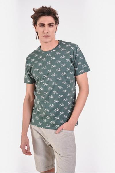 Zielona koszulka w rowery