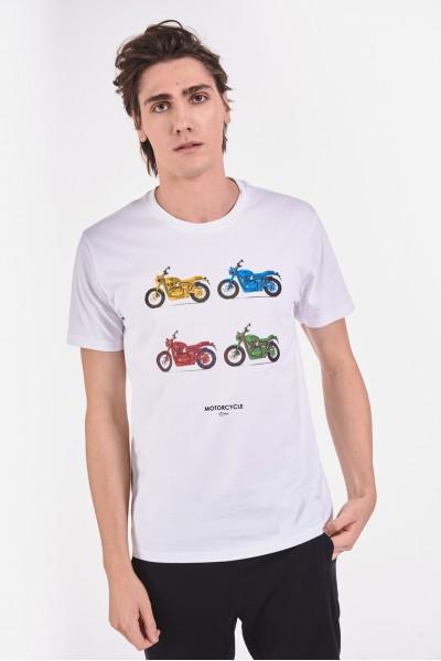 Bawełniana koszulka w motocykle