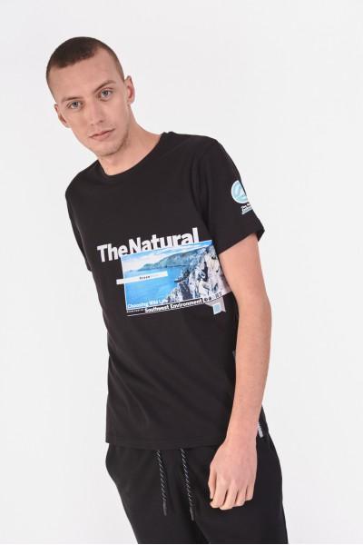 Bawełniana koszulka z morskim krajobrazem