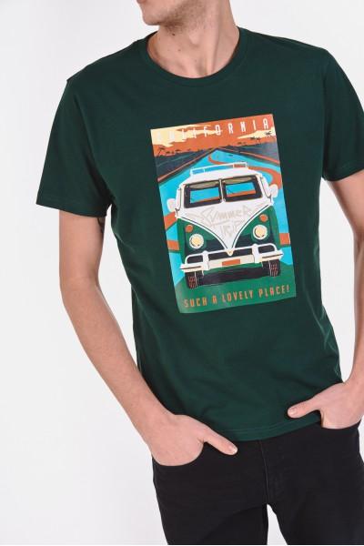 Bawełniana koszulka z wakacyjnym nadrukiem