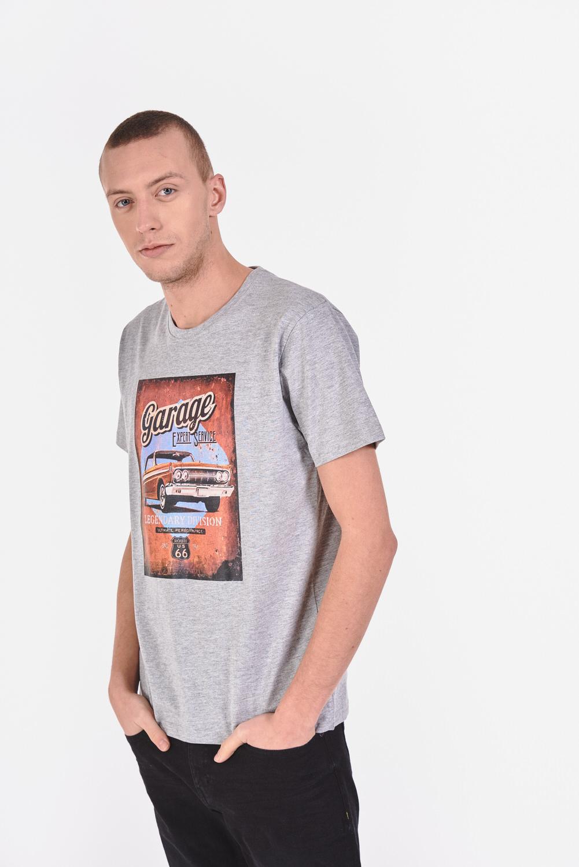 Bawełniana koszulka z samochodowym nadrukiem