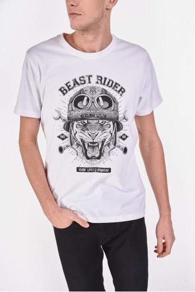 T-shirt ze zwierzęcym motywem