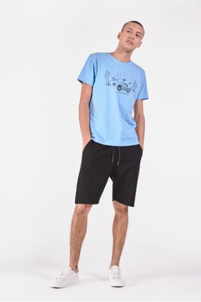 Bawełniana koszulka z rysunkowym nadrukiem