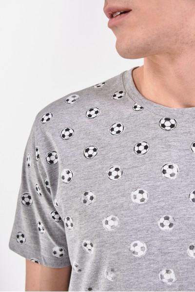 Szara koszulka w piłki