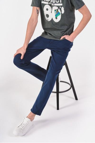 Granatowe spodnie z normalnym stanem