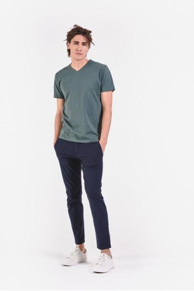 Granatowe spodnie z...