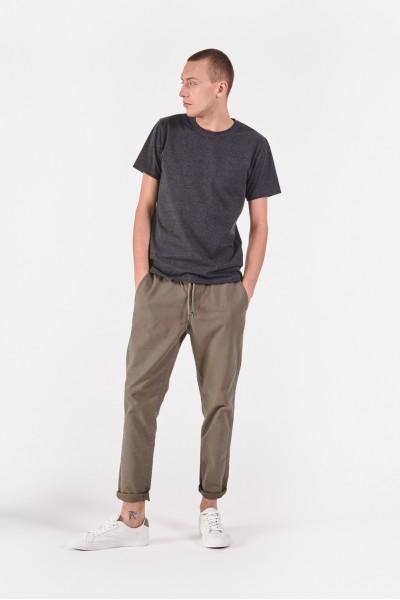 Spodnie khaki z prostymi...