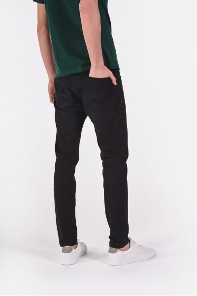 Czarne jeansowe spodnie slim