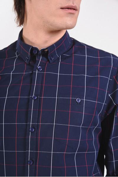 Bawełniana koszula regular z łatami na łokciach