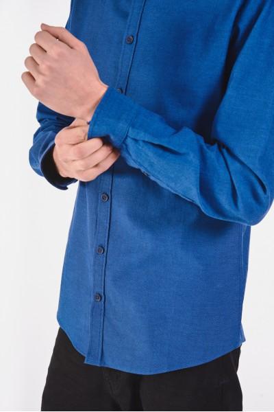 Bawełniana koszula slim w...