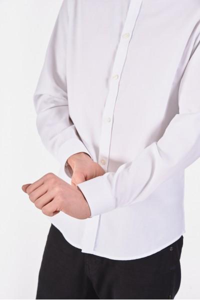 Elegancka biała koszula slim