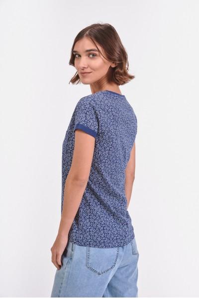 Bawełniana bluzka w kolorowe kropki