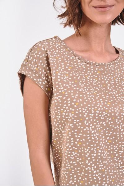 Bawełniana bluzka w drobne gałązki