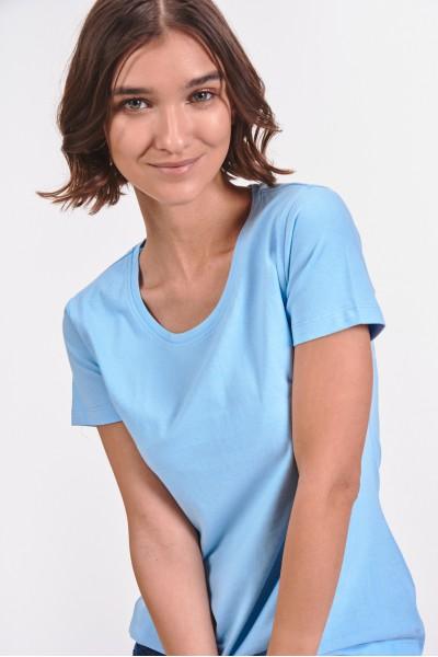 Błękitna koszulka z krótkim rękawem