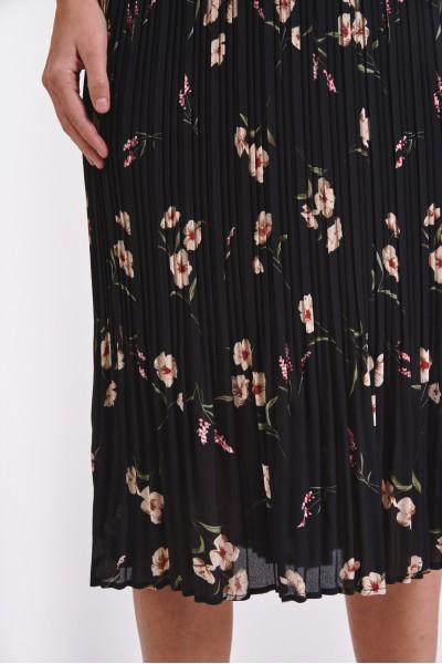 Plisowana spódnica w kwiatki