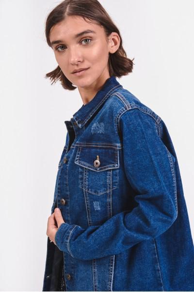 Dżinsowa kurtka o kroju oversize