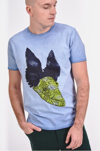 Klasyczny t-shirt z nadrukiem