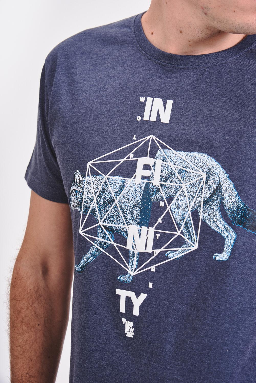 Bawełniana koszulka z geometrycznym nadrukiem