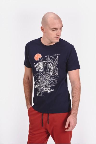 Bawełniana koszulka z tygrysem