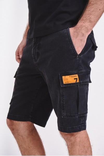 Czarne dżinsowe szorty