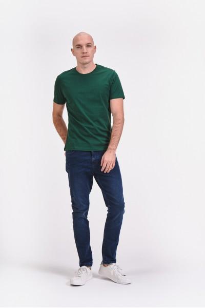 Klasyczne jeansy z ciemnego denimu