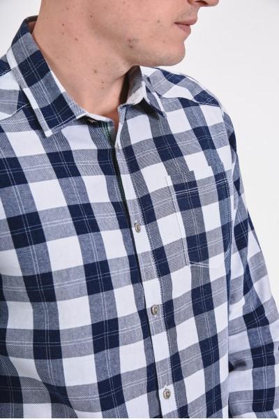 Bawełniana koszula regular w kratę