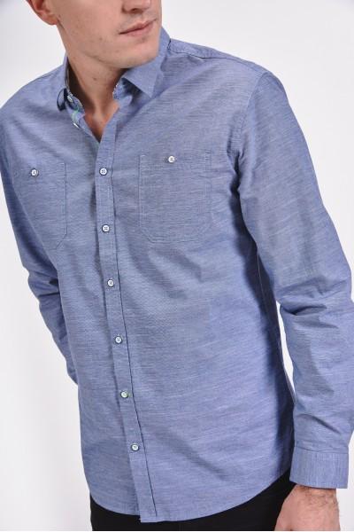 Bawełniana koszula regular z dwoma kieszonkami