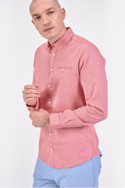 Różowa, bawełniana koszula...