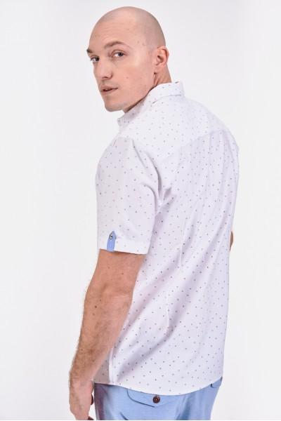 Koszula regular z lekko podwijanymi rękawami