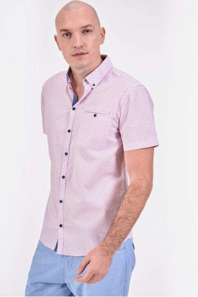 Różowa koszula regular z...