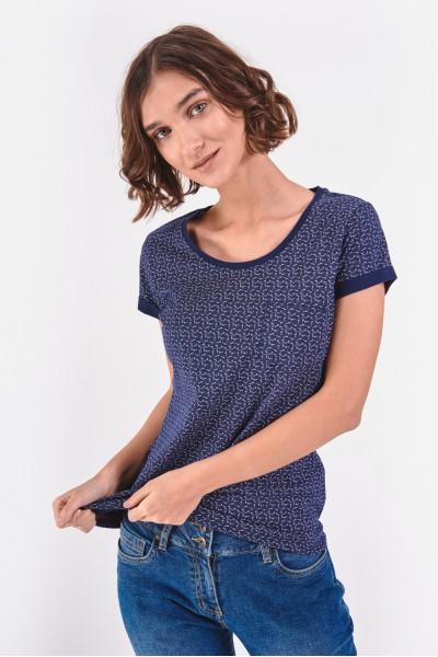 Bawełniana bluzka z podwijanymi rękawami