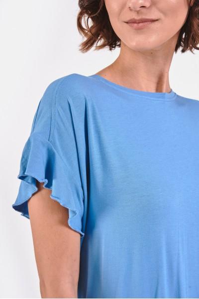 Bluzka z falbankami przy rękawach