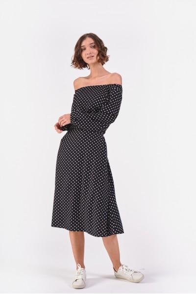 Sukienka hiszpanka w groszki
