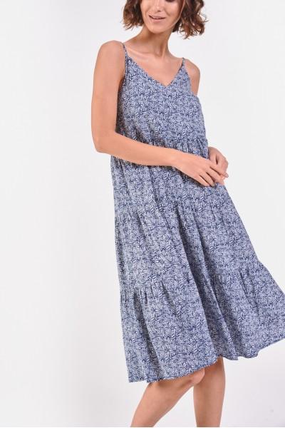 Wzorzysta sukienka na ramiączkach