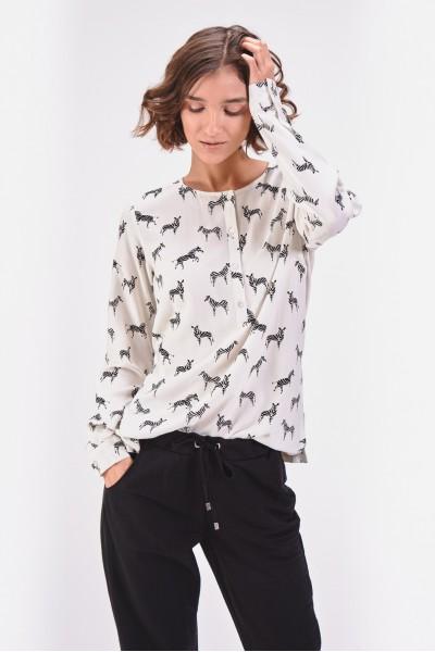Wiskozowa bluzka w zebry