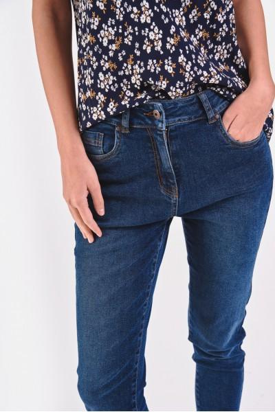 Dżinsowe spodnie z ciemnego...