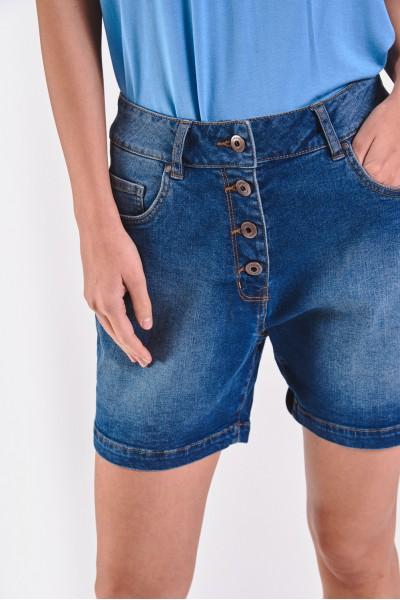 Dżinsowe szorty zapinane na guziki
