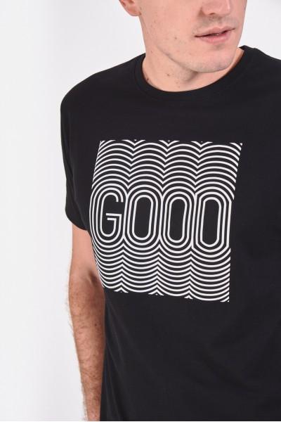 Bawełniana koszulka z napisem