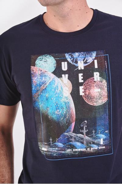 T-shirt z astronomicznym nadrukiem